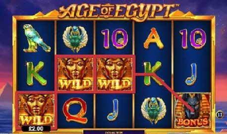 الرموز المستخدمة في لعبة سلوتس عصر مصر (Age of Egypt)
