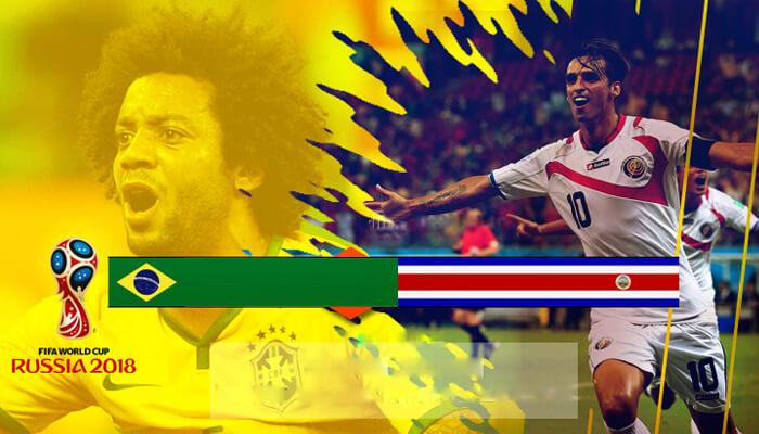 البرازيل مقابل كوستاريكا التنبؤ للمجموعة ه المباراة من كاس العالم لكره القدم 2018