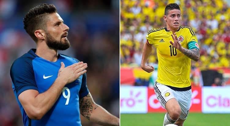 توقعات مباراة فرنسا أمام كولومبيا، نصائح المراهنات، ونظرة عامه على المباراة