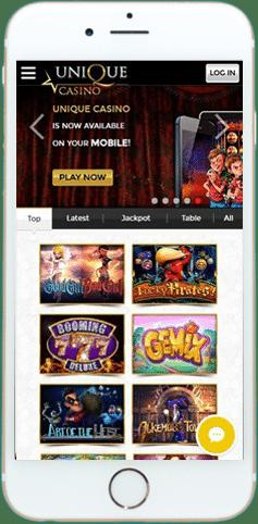 مراجعة يونيك كازينو (Unique Casino)